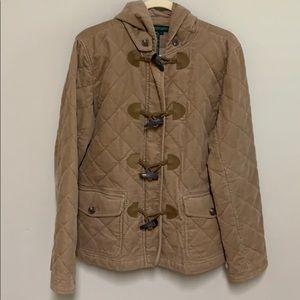 Ralph Lauren tan corduroy coat / jacket. Large